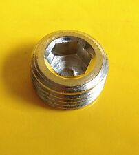 "3/4"" NPT NPTF Pipe Thread Allen Head Plug Chrome Plated Brass N-9N"