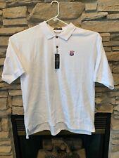 Page & Tuttle Mens White NFL Alumni Ribbed Polo Shirt Size XXL 2XL