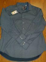 NWT Robert Graham men's size XL Navy long sleeve button down shirt Classic Fit