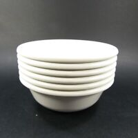 Vintage Rubbermaid Bowls #3836 Lot of 6 Melamine WHITE Cereal Soup