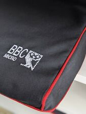 More details for bbc micro - dust cover - graphite grey cotton canvas - embroidered