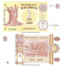 Moldova 1 Leu  2015  P-21 Banknotes UNC