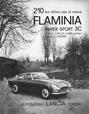 Pubblicità LANCIA FLAMINIA SUPER SPORT 3C ZAGATO - 1964
