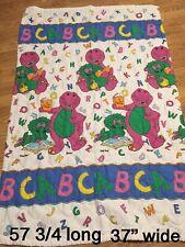 """Vintage Rare Barney Baby Bed Blanket Quilt Comforter Bedspread 37"""" X 57"""" Vtg 90s"""