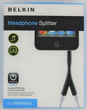 Belkin Headphone Audio Splitter 1 3.5mm Male to 2 3.5mm Female - NEW~!!