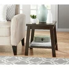 Small Side Table Open Shelf Wood Bedside Sofa End Tables Living Room Furniture
