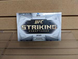 2020 Topps UFC Striking Signatures Hobby Box NEW