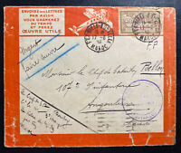 1923 French Army Fez Morocco Colonial Troops Airmail Cover To France