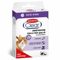 3 Pipette Cat & Kittens Clear Flea & Tick Skin Kind Spot On break the flea cycle