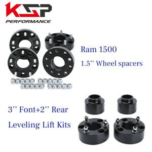 "4x 1.5"" 2012-2018 Dodge Ram 1500 Wheel Spacer Kit + 3"" Front + 2"" Rear Lift Kit"
