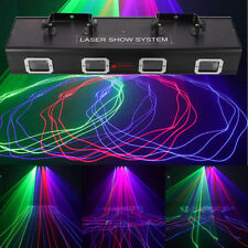 4Lens 530mw Red+Green+Blue+Blue DMX512 Laser light Stage DJ Party Club 9 Channel