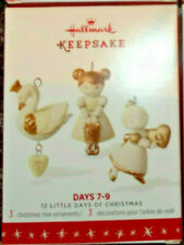 2016 Hallmark,Twelve Days Of Christmas,Miniature Ornaments,Days 7-9