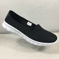 Flojos Seado Woven Fabric Slip-On Sneaker Comfort Shoes Women's Sz 10 Black