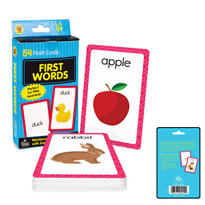 Baby Book First Words Picture Flash Cards Kids Educational Pre School Learning