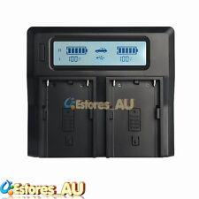 LCD Dual Battery Charger For Sony BP-U30 U60 U65 U90 PMW-EX1 EX3 100 200 F3 FX3