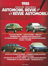 Automobil Revue Automobile 1988 • Catalogue Number • LIKE NEW