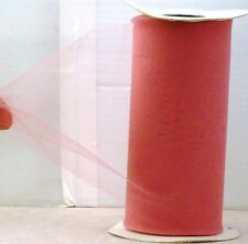 "New 75 ft Spool Dark Rose Tulle 6"" $17.00 Retail Usa Made Wedding Crafts etc"