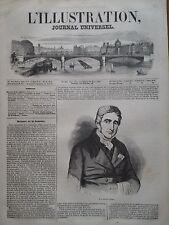 L' ILLUSTRATION 1847 N  221 PORTRAIT DU DOCTEUR JACQUES LISFRANC de SAINT-MARTIN