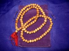 ITM008 Mala Meditation Beads + FREE Bag/Pouch: Sandalwood