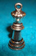 Pendant Chess Charm Queen Charm Royalty Chess Queen Charm Board Game Charm Chess