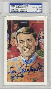 Lou Carnesecca SIGNED LE Center Court Card St. Johns Coach PSA/DNA AUTOGRAPHED
