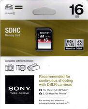 Sony 16 GB SDHC Memory Card Class 10 SF-16NX/TQ2 SD Sealed Package