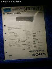 Sony Service Manual STR DE215 FM/AM Receiver (#5189)