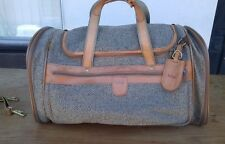 Hartmann Walnut Tweed Belting Leather Carry On Duffle Tote Suitcase Bag
