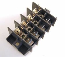 Weco Distribution Block 4 Barriered Poles x 6 Faston Tabs/Pole 25A 400V OM443