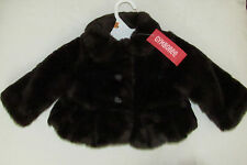 Gymboree faux fur zebra brown winter coat NWT 6 12 mo Girls Best Friend $42