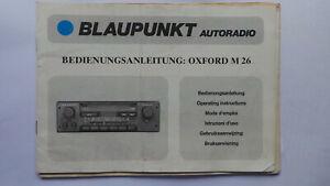 BLAUPUNKT OXFORD M 26 RADIO CASSETTE INSTRUCTION MANUAL VOLKSWAGEN FORD PORSCHE