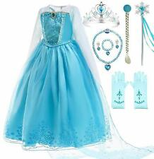 Romy's Collection Ice Queen Blue Party Princess Elsa Costume Dress-Up Set