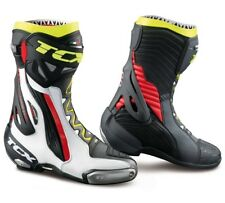STIVALI BOOTS MOTO RACING TCX RT-RACE PRO AIR WHITE RED YELLOW FLUO TORSION  42