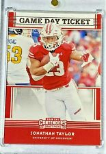 Jonathan Taylor Rookie Non Auto Mint 2020 Flawless Contenders Dp Badgers / Colts