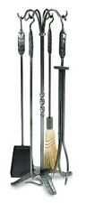 Achla 5 Pc Tool Set-Large Leaf Wrought Iron- WR-01 Fire Tool Set NEW