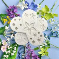 2Pcs Silicone Fondant Cake Mold Flower Petal Leaf Cutter Sugarcraft Baking Mould