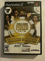 WORLD SERIES OF POKER 2007 - PS2 - COMPLETE W/ MANUAL - FREE S/H - (T3)