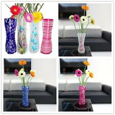 10pcs Useful Plastic Folded Unbreakable PVC Flower Vase Home Jardiniere Decor