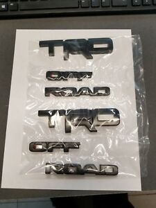2017-2018 4Runner TRD OFF ROAD Black overlay kit 00016-89707 (6 piece kit)