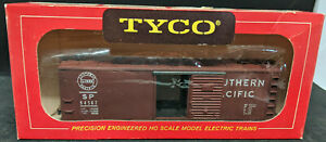 TYCO MANTUA METAL SP #84567 BoxCar DIE-CAST SOUTHERN PACIFIC VINTAGE, BROWN USA!