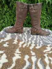 Timberland brown leather knee high boots UK size 6 EU 39