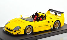 TOP MARQUES 1989 FERRARI F40 LM BEURLYS BARCHETTA SPIDER YELLOW 1/18 LE of 500
