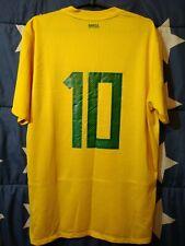 SIZE L BRAZIL 2011-2012 HOME FOOTBALL SHIRT JERSEY #10