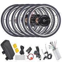 """26"""" Electric Bicycle Motor Conversion Kit Front Rear Wheel E Bike Hub 500W 1000W"""