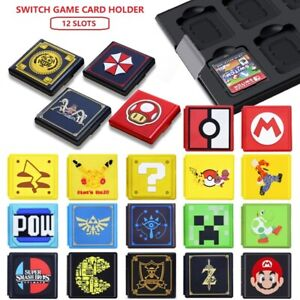 Nintendo Switch Game Card Holder--12 Slots--Compact Design--Solid Case