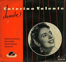 "CATERINA VALENTE CHANSON D'AMOUR EP 7 "" GERMANY EX *"