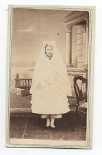 1870s CDV Photo of Girl at Communion Quebec Canada