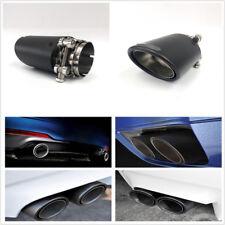 1 Pcs Oval Real Carbon Fiber Matte Black Car Exhaust Muffler Pipe Tip 63mm-89mm