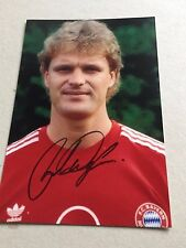 Roland Wohlfarth (Bayern Monaco) SIGNED PHOTO 10x15