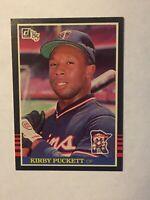 1985 Donruss Kirby Puckett Rookie Minnesota Twins #438 Baseball Card
